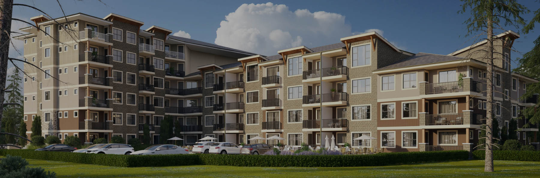 Grand Skymark new development in Abbotsford on Sumas Way - construction rendering